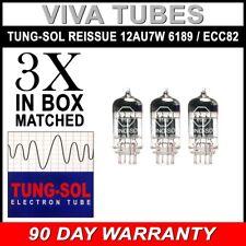 Brand New Tung-Sol Reissue 12AU7 6189 ECC82 GAIN MATCHED Trio (3) Vacuum Tubes