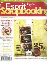 ESPRIT SCRAPBOOKING N°18 DES CARTES ET DES CADRES POUR LES FETES / ALBUM NOEL