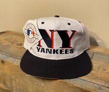 Vintage New York Yankees Snapback Hat Logo 7 Cap two tone Deadstock NOS NWT rare
