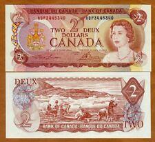 Canada, $2 1974, P-86a, Young QEII, UNC