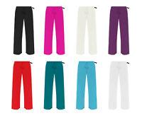 New Plus Size Womens Plain Palazzo Wide Leg Flared Ladies Trousers Pants 14-28