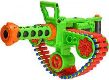 Gatling Machine Gun Motorized Automatic Dart Belt Blaster Kids Play Toy Big Nerf
