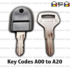 Clarke / Halfords / Sealey Tool Box, Chest Spare Keys Cut to Code A00 to A20
