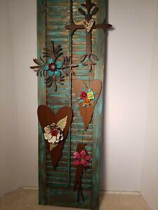 "Handmade Metalcraft 9 ""Metal Heart Wall Plaque Mother's Day Gift?"