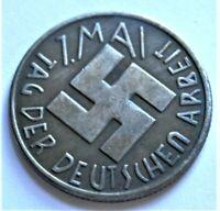 WW2 GERMAN COMMEMORATIVE COLLECTORS REICHSMARK COIN 1 MAI