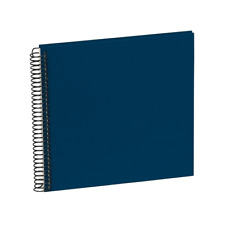 SEMIKOLON Spiral Photo Album Piccolino Black Pages Navy Blue Cover