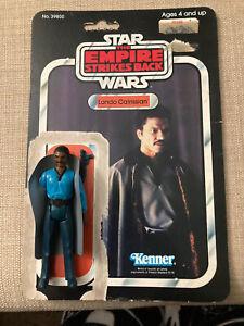 Vintage 1980 Lando Calrissian Star Wars Action Figure  With 31 Cardback & Weapon