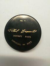 Phil Esposito vintage hockey puck