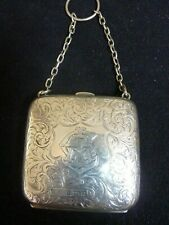 Lovely Solid Silver Ladies Coin Purse 1908