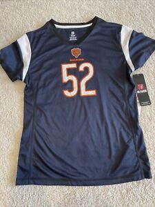 Chicago Bears girls XL Khalil Mack jersey shirt dri fit NFL 52