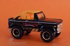 2015 Matchbox Loose 1972 '72 Ford Bronco 4X4 Black SkyJacker Suspensions