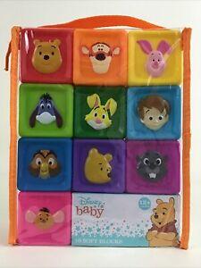 Disney Baby 10 Soft Blocks Winnie The Pooh Colorful Blocks Embossed Graphics New