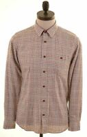 TED BAKER Mens Shirt Size 15 1/2 Medium Multi Check Cotton  CI07