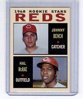 Johnny Bench & Hal McRae '68 Cincinnati Reds rookie stars Pastime series #2