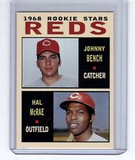 Johnny Bench & Hal McRae '68 Cincinnati Reds rookie stars Pastime series #2