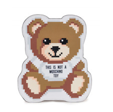AW19 Moschino Couture Jeremy Scott Sims Leather Teddy Bear Pixel Pouch Clutch