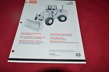 Case Tractor W18 Wheel Loader Dealer's Brochure RPMD