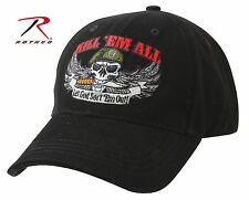 Rothco 9599 Deluxe Kill 'Em All Low Profile Cap - Black