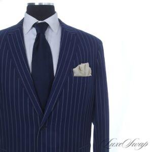 INTENSE Elevee Bespoke Custom Made Ariston S130s Royal Blue Pinstripe 2B 2V Suit