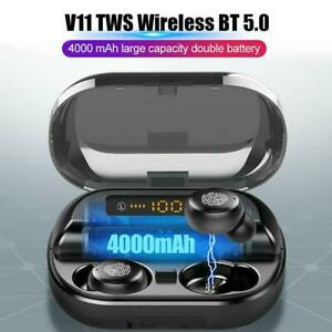TWS Bluetooth 5.0 Kopfhörer In-Ear Ohrhörer HiFi Bass Headset Ladebox 4000mAh