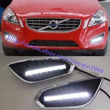 LED Daytime Running Lights DRL LED Front Bumper Fog Lamp for VOLVO S60 2011~2013