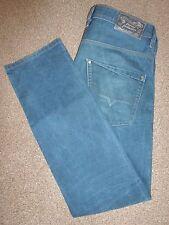 Da Uomo DIESEL il coraggioso Blu Wash Krooley SLIM CAROTA Jeans Denim Vita 34 Gamba 31