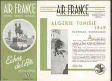 AIR FRANCE Echos de l'air # 30 1949 Algérie Tunisie Alger Tunis colonie