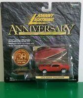 Johnny Lightning - 1970 Dodge Challenger (Red) [Anniversary Series] ~NIP~MOC~☆