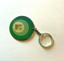 Vintage MTV Music Television Retro Metal Disc Key chain Keyring