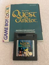 Gameboy Colour Quest For Camelot With Manual