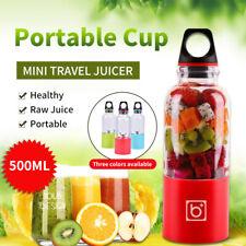 More details for portable usb fruit juicer shaker bottle electric juicer smoothie maker 500ml uk