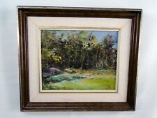 Signed Original Oil Painting Summer Melvern Square Nova Scotia 1981 Landscape