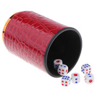 Bar//Pub//KTV //Party// Dice Guessing Game Toy 4inch 2x Dice Cup with 12Pcs Dice