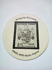 Vintage ROBINSONS - INN SIGNS - KINMEL ARMS  - Cat No'92 -  Beermat / Coaster
