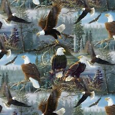 1 Half Metre Masters of the Skies Eagle Print Fabric - 100% cotton - ML3008-3c