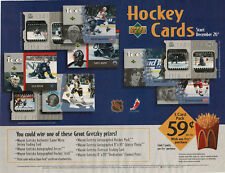 1997-98 McDonald's Hockey Cards Placemat, with Wayne Gretzky Contest Prizes
