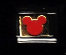 Mickey mouse ears in Red WHOLESALE ITALIAN CHARM 9MM K2016