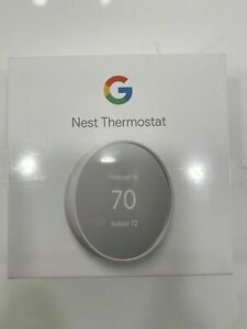 Google Nest Thermostat - Smart Thermostat for Home - Programmable Wifi - Snow