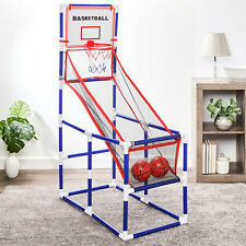 Basketball Set Hoop Toddler Kids Arcade Game Room Indoor Sports 2 Balls Pump New