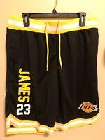 Los Angeles Lakers #23 Lebron James Basketball Shorts NBA U