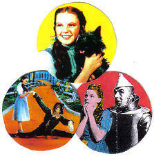 3 WIZARD OF OZ BADGES. JUDY GARLAND