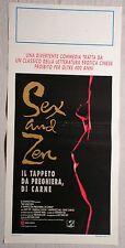 Locandina SEX AND ZEN IL TAPPETO DA PREGHIERA, DI CARNE 1°ED.ITAL.1992, AMY YIP