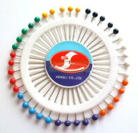 35mm Headed Pins - Rosette Wheel of 40 (Sewing, Dressmaking, Craft)
