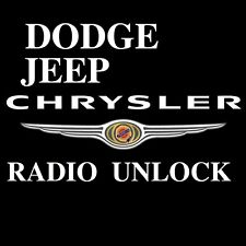 CHRYSLER, JEEP, DODGE, STEREO RADIO CODE DECODE UNLOCK ENCODE  FAST SERVICE