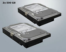 "2x 500GB Hitachi Disco Duro HDD 3,5"" SATA II / 5600 RPM RPM 8mb interno 1tb"