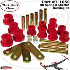 Prothane 7-1050 Rear HD Spring Eye&Shackle Bushing Kit-67-81 Camaro/Firebird