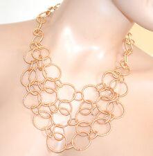 COLLANA ORO girocollo donna dorata diamantata elegante collier necklace F185