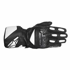 Alpinestars SP-2 Leather Motorcycle Motorbike Gloves - Black/White