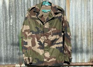 GENUINE FRENCH ARMY ISSUE CCE WOODLAND CAMO HBT F2 COMBAT JACKET - M 96L