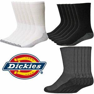 6,12 Pack DICKIES MENS DRI-TECH Crew Work Socks Reinforced Heel and Toe 6 -11
